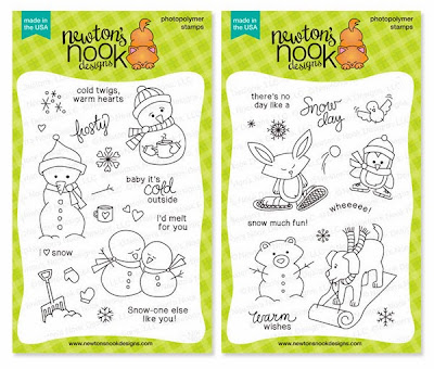 Newton's Nook Designs Winter Stamps