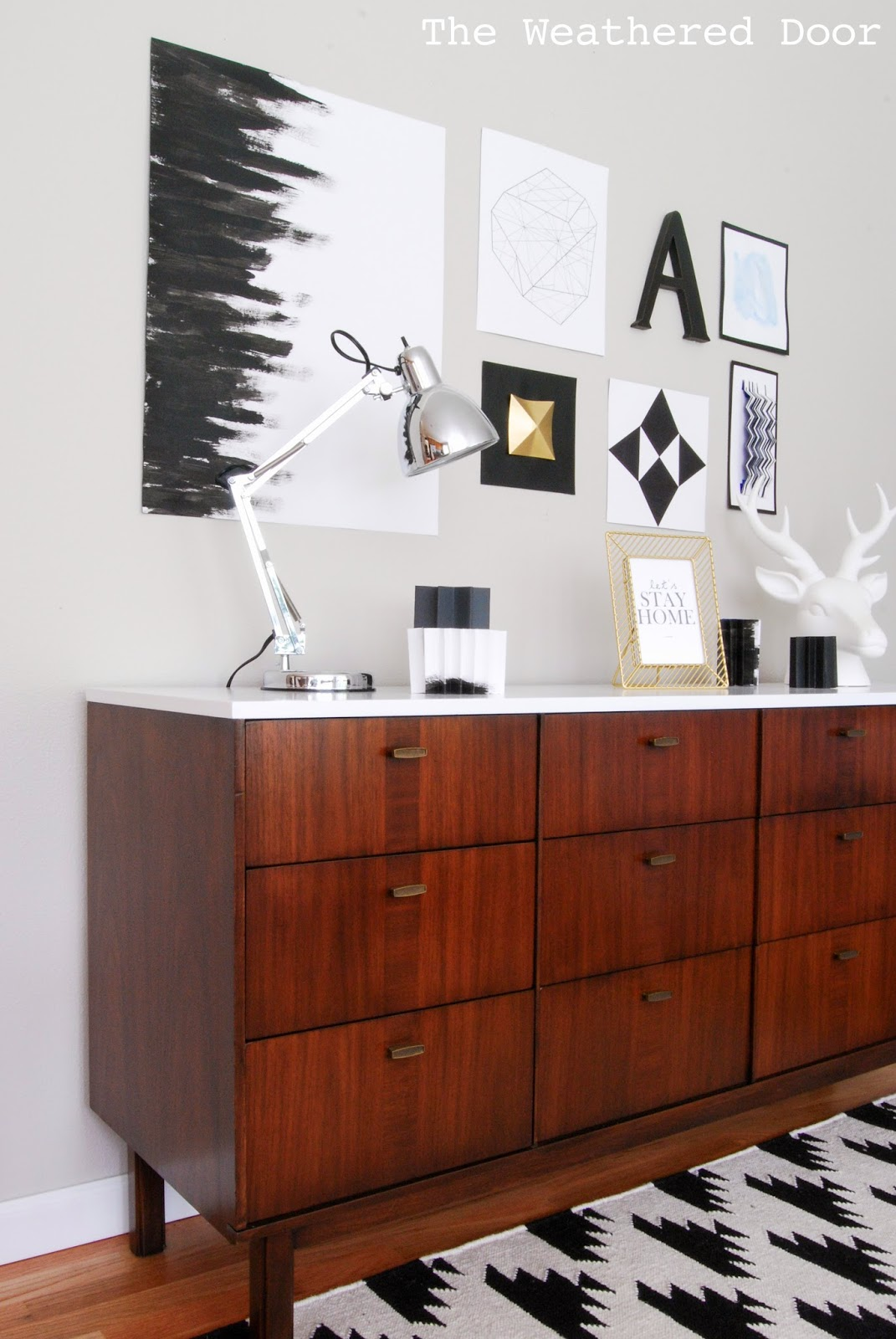 Modern White Credenza Before After Mid Century Modern Credenza With A Glossy White