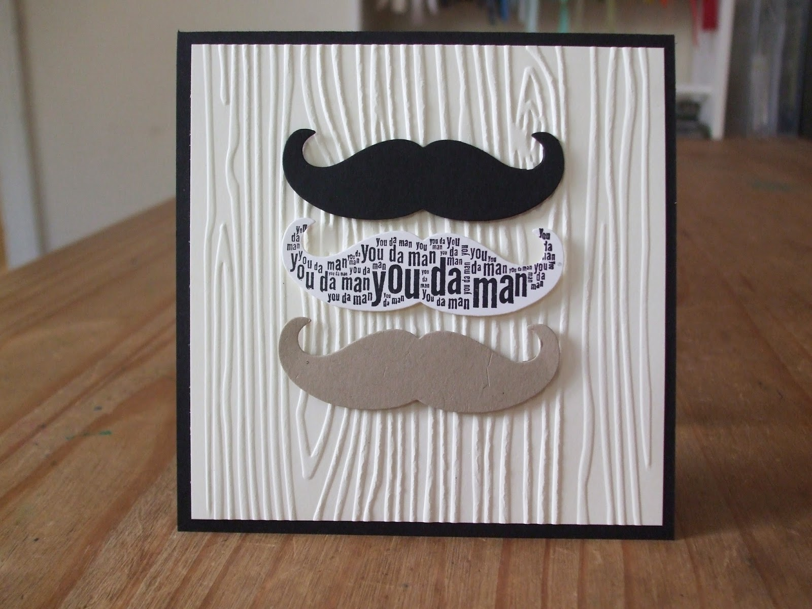 Well worded, Mustache die, Stampin' Up!