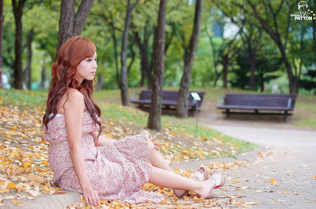Kim Ha Yul - Ruffle Dress Outdoor Photoshoot