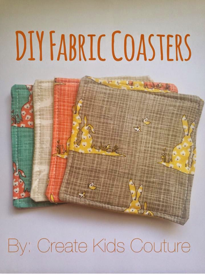Create Kids Couture How To Tuesday Fabric Coasters - Create coasters from photos
