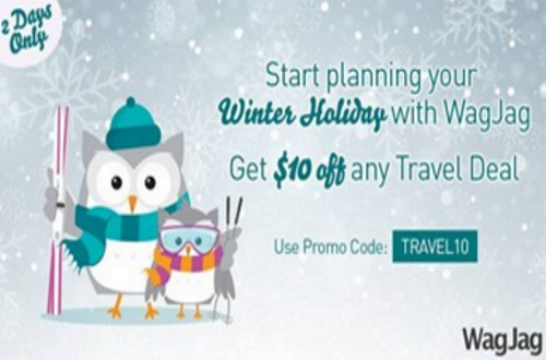 Wagjag $10 Off Any Travel Deals Promo Code