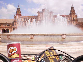 pringles jamon, sangria don simon, Plaza de España