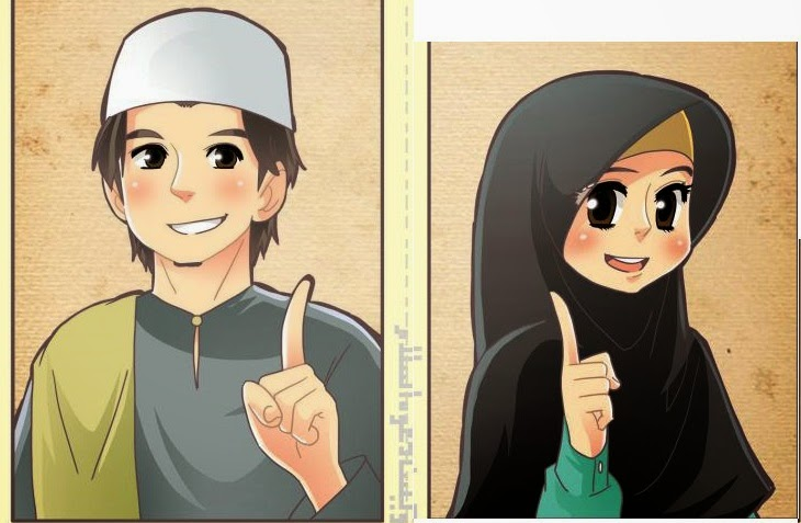 koleksi gambar kartun ana muslim dan muslimah   infokini