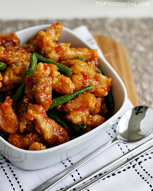 To Food With Love Sweet Chilli Fried Chicken With French Beans