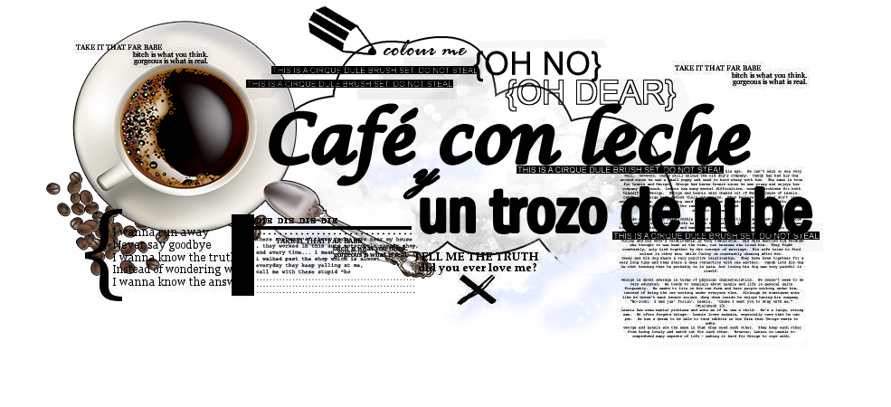 Café con leche y un trozo de nube