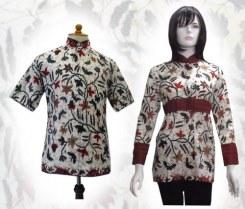 a47 Model baju batik wanita pria couple sarimbit anak modern terbaru