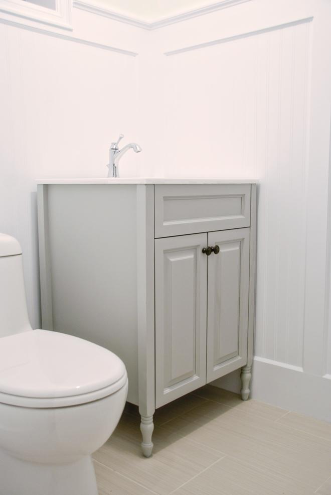 the basement a painted vanity rambling renovators. Black Bedroom Furniture Sets. Home Design Ideas