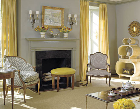 eye for design decorating with the grey and yellow color combination