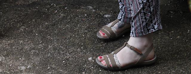 Clarks brown sandals.