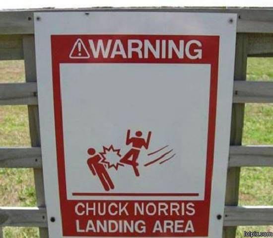 Cuidado Chuck Norris por perto