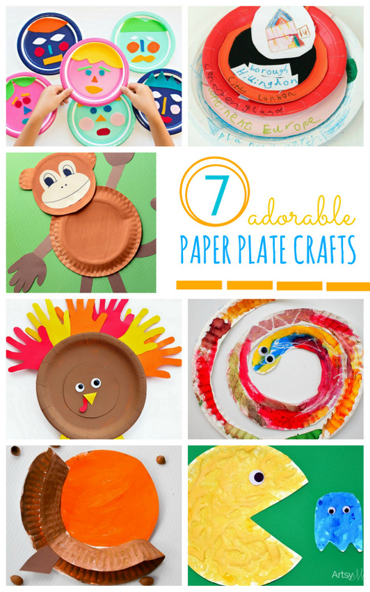 7 adorable paper plate crafts- easy, cute, and fun paper plate crafts to make with the kids!