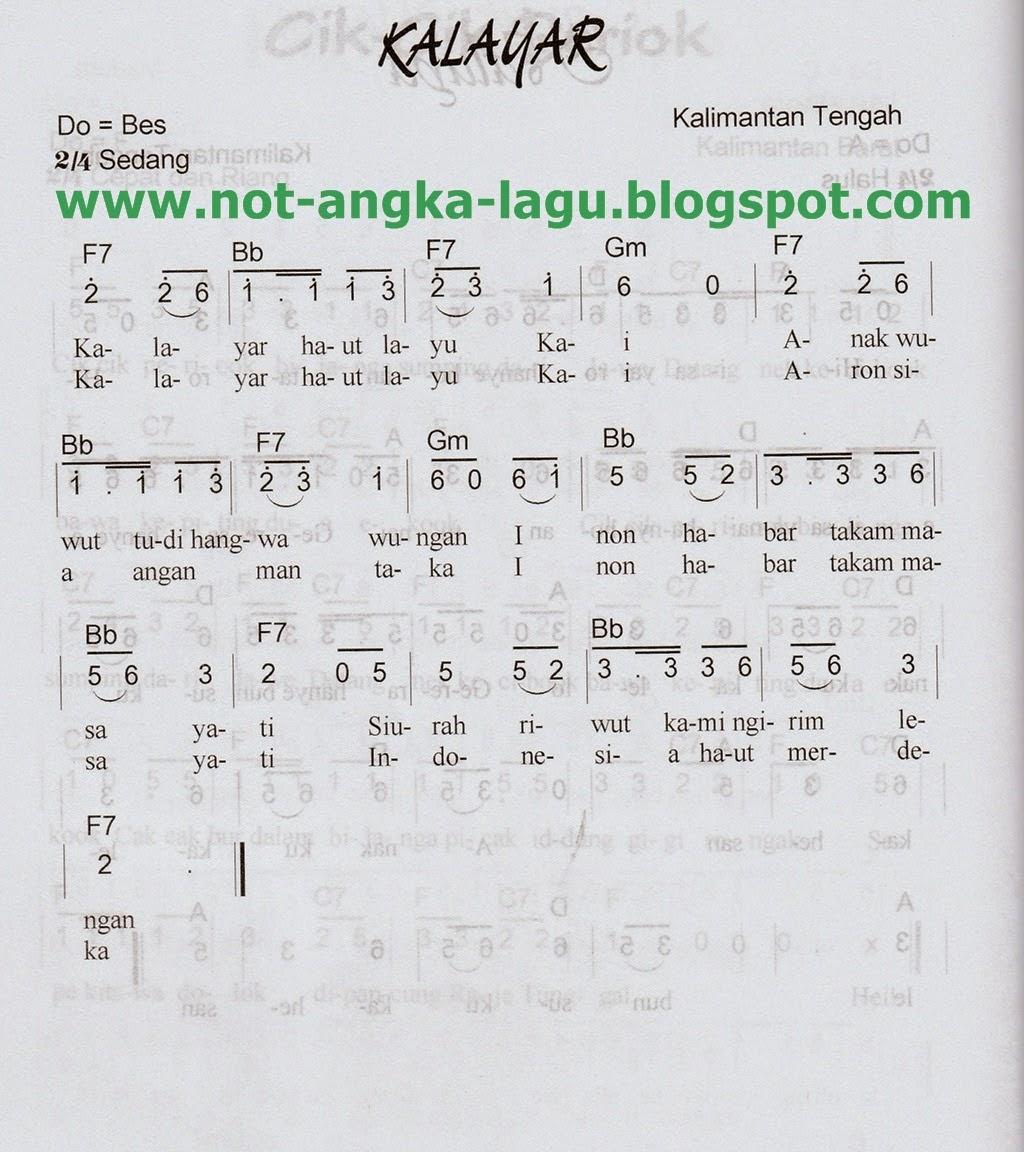 Not Angka Lagu Kalayar - Kumpulan Not Angka Lagu