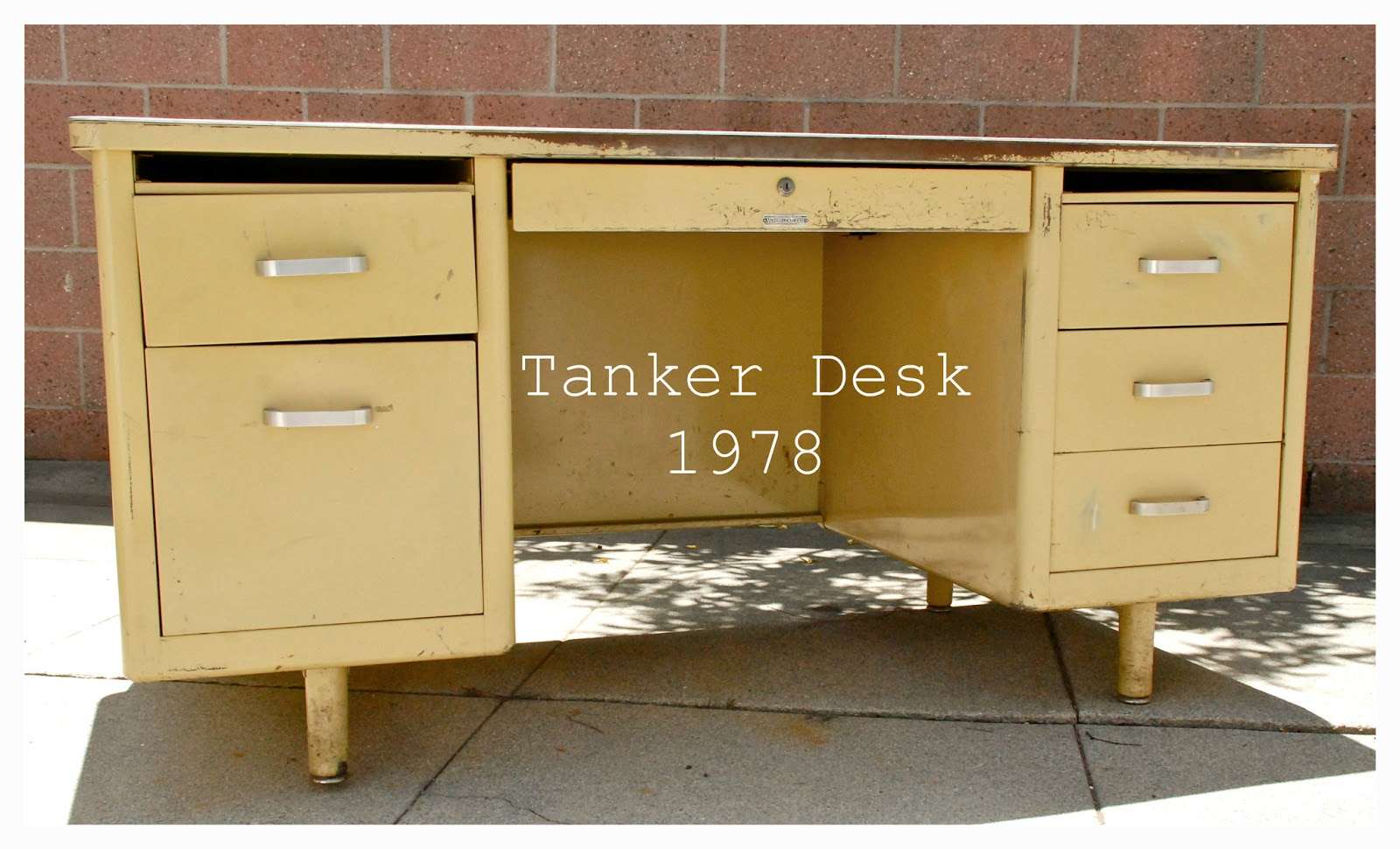 style tanker craig desk green deco rehab mc refinished mcdowell sold