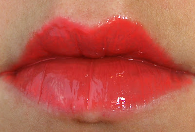 Korres Lip Butter Glaze in Pomegranate Lip Swatch