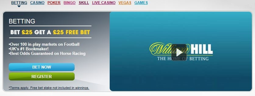 William Hill Sport Betting Coupon Code free £25