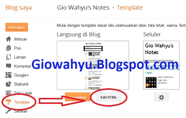 Tips Cara Mengganti Icon Blogger Mudah Cepat Dan Sederhana 02