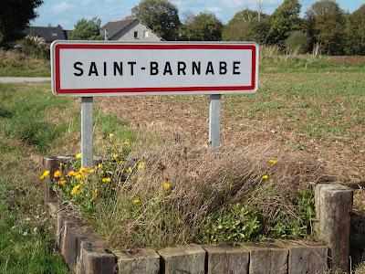 Saint-Barnabe village sign