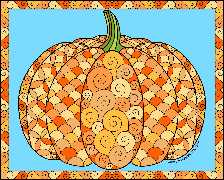 Don\'t Eat the Paste: Pumpkin to color