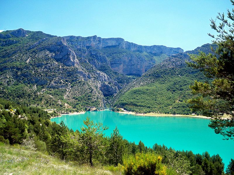 W w z verdon francuski cznik for Camping avec piscine dans les gorges du verdon