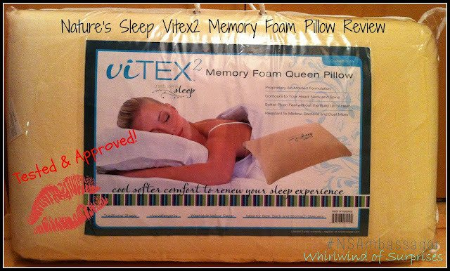 Nature's Sleep Vitex 2 Memory Foam Pillow Review #NSAmbassador