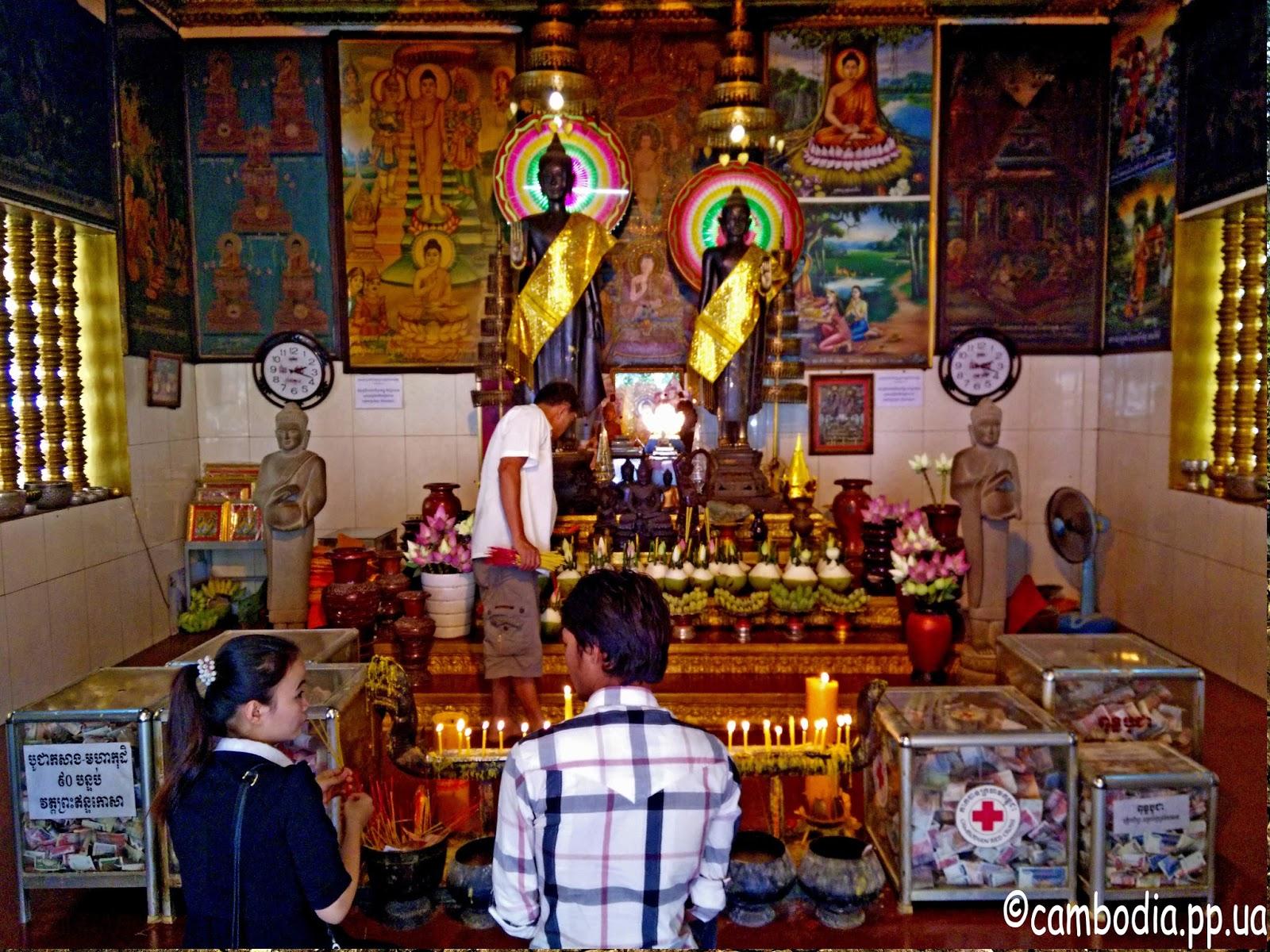 Камбоджийский буддиский алтарь