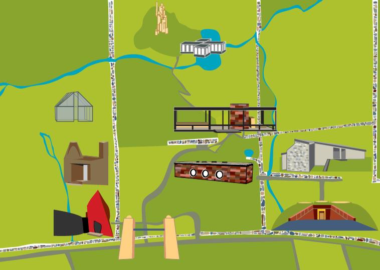 jennifer steffey philip johnson estate map. Black Bedroom Furniture Sets. Home Design Ideas