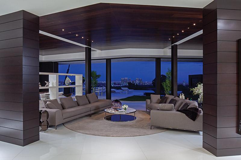 Open Shelving Living Room Corner