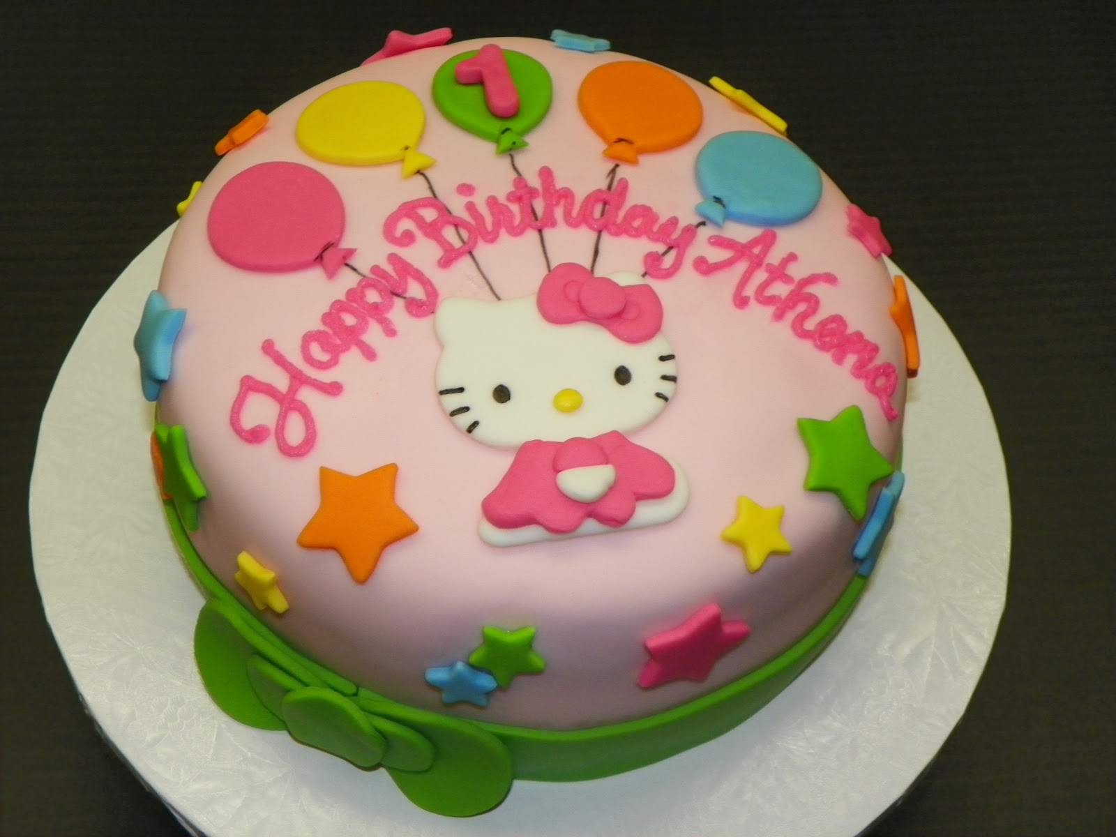 Birthday Cake Pictures Hello Kitty : Plumeria Cake Studio: Hello Kitty First Birthday Cake
