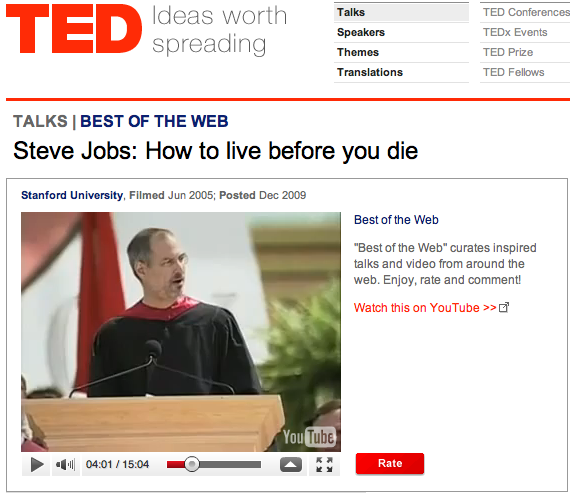 steve jobs how to live before you die speech