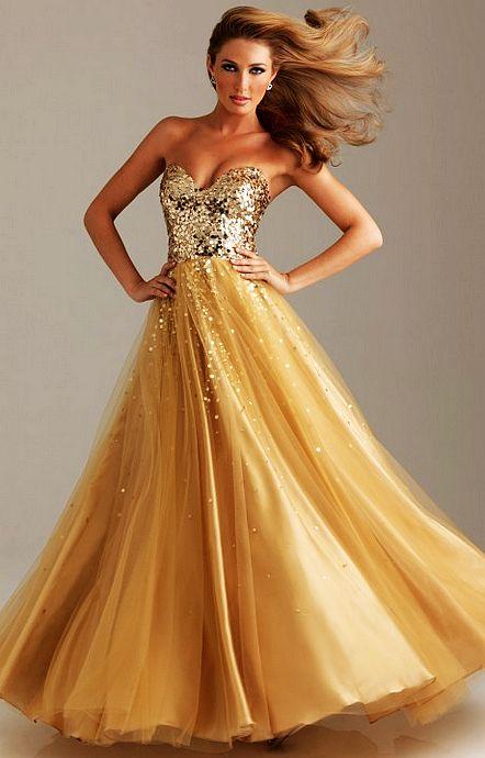 homecoming dazlling prom dresses 2013: Gold sequins prom dresses ...