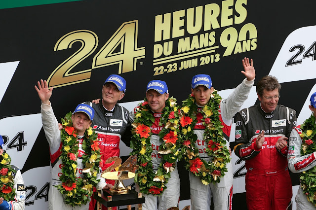 Audi e-tron Quattro Triumphs at Le Mans for the 4th Time in a Row: 2013 Le Mans Results