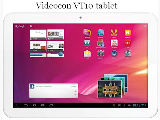 Videocon VT10 Tablet price in India photo