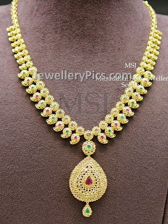 mango mala with uncutr diamonds