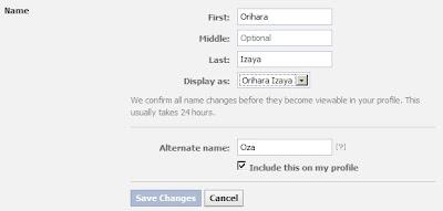 Cara Mengganti Nama Facebook Yang Sudah Limit Atau Tidak Bisa Diganti Lagi