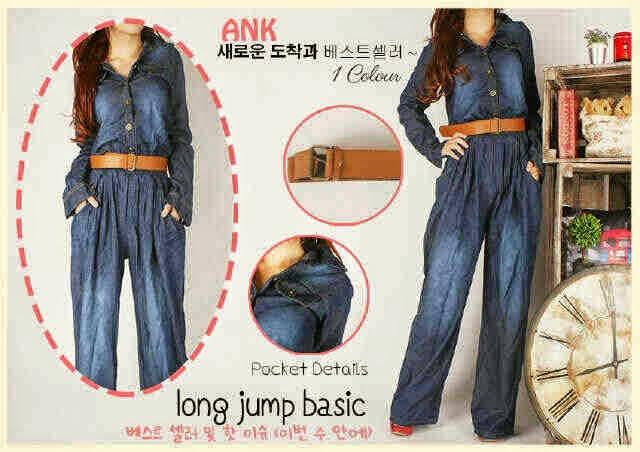 Long Jumpsuite Basic Jeans