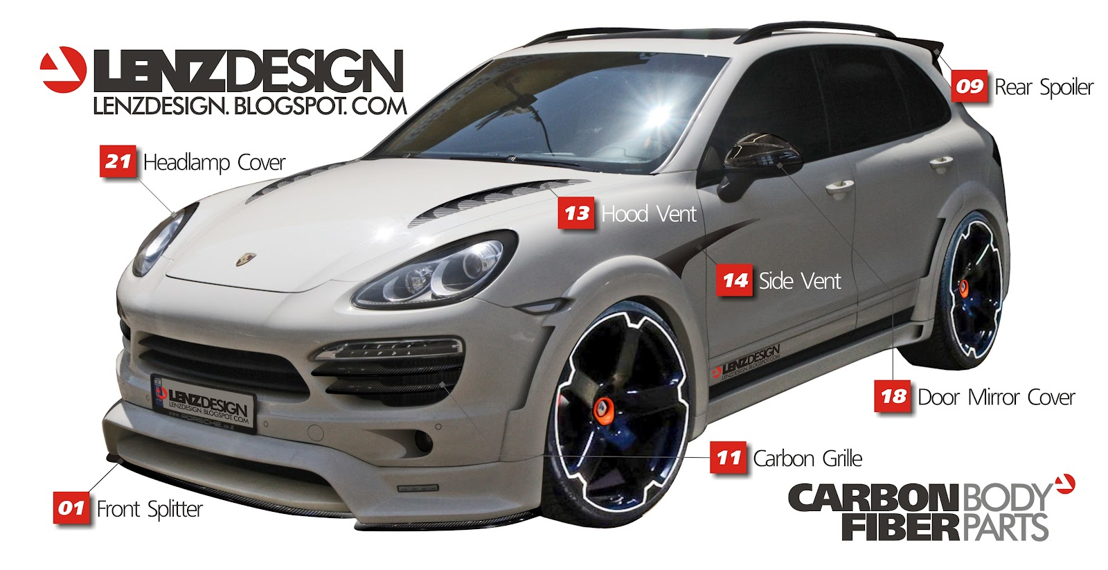 porsche cayenne 958 tuning lenzdesign performance wide body kit. Black Bedroom Furniture Sets. Home Design Ideas