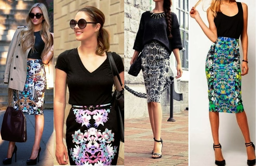 Pencil skirt with pencil print – Modern skirts blog for you