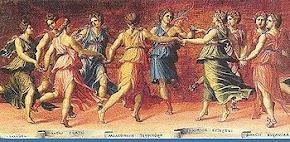 Ο χορός των Μουσών με τον Απόλλωνα.