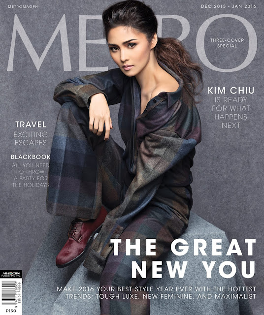 Kim Chui Metro Magazine December 2015 to January 2016 Cover Girl