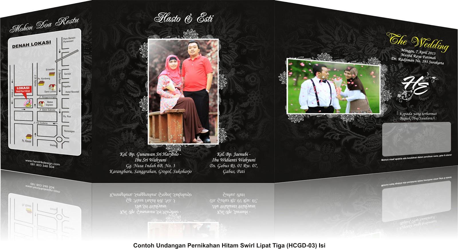 contoh undangan pernikahan dengan nuansa hitam swirl update undangan