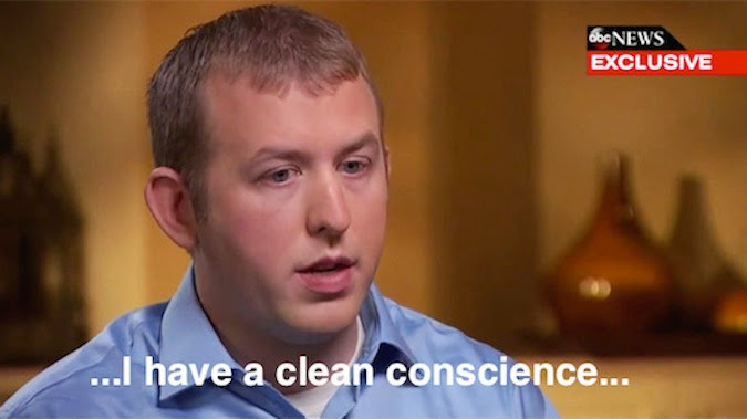 darren wilson, clean conscience, michael brown, ferguson