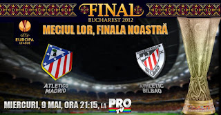Athletic Bilbao Atletico Madrid 9 mai FINALA Europa League online live in direct Protv 2012 HD