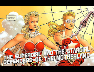 Page 2 of DC Comics Bombshells #10 featuring Supergirl and Stargirl