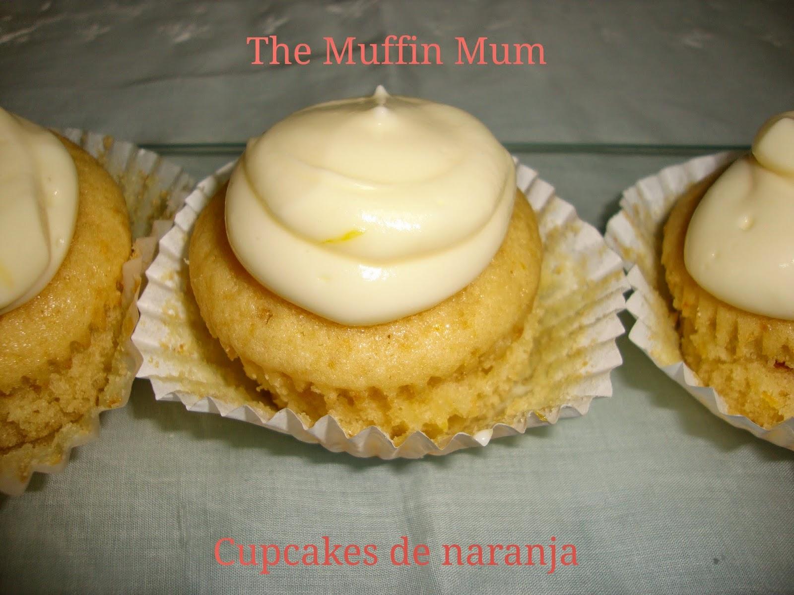 Cupcakes de naranja y quark