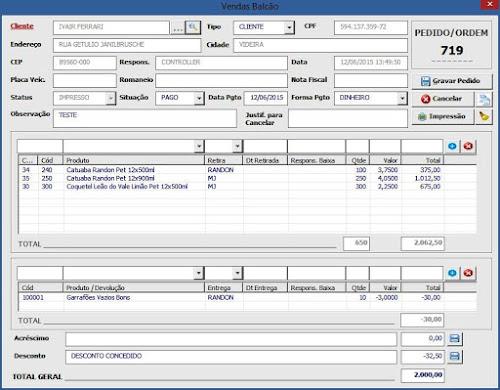 Sistema Desenvolvido: Excel, VBA, SQL com Banco de dados Firebird