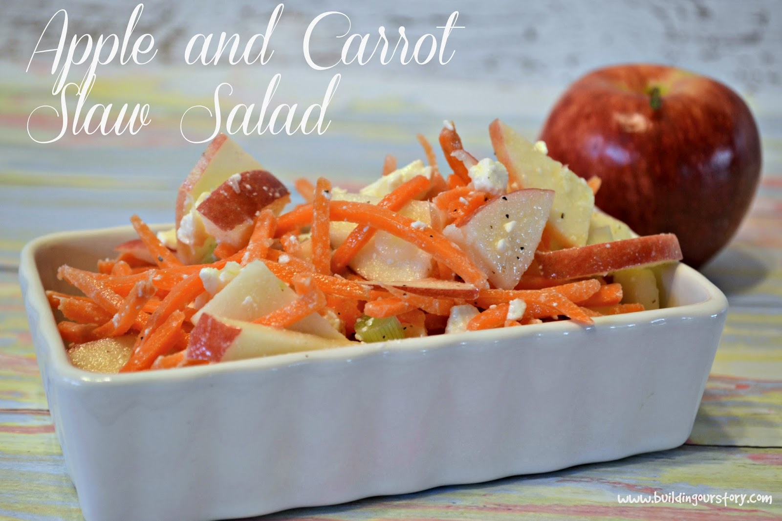 Apple and Carrot Slaw Salad Weight Watchers #Recipe