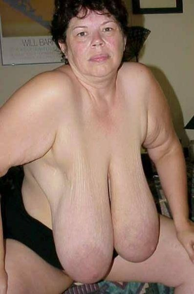 Saggy mature udders