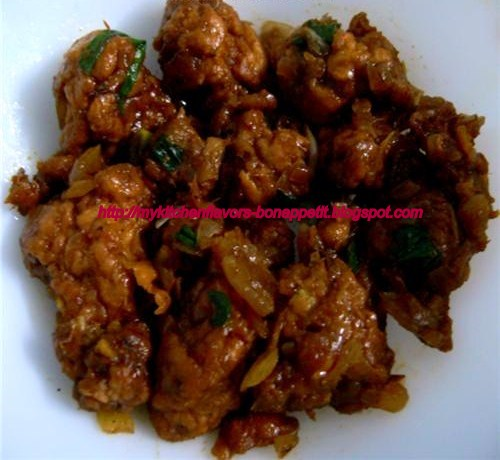 recipe of chicken manchurian dry