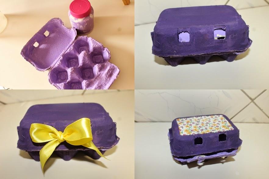Lembrancinha feita com caixa de ovos, reciclagem de caixa de ovos, lembrancinhas recicladas